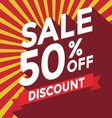 Sale 50 Percent Off discount vector image vector image