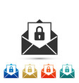 secure mail mailing envelope locked with padlock vector image vector image
