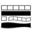 set film strip cinema strip roll 35mm vector image