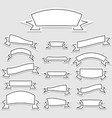 set of banner ribbons in flat style vector image vector image