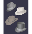 set of mens hats vector image