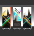 set of vertical abstract display banner stand or vector image vector image