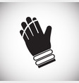 ski glove on white background vector image