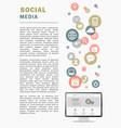social media page vector image