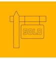 Sold sign line icon vector image