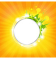 Sunburst Background With Stars vector image vector image