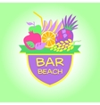 Template logo Beach bar party vector image vector image
