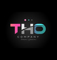 tho t h o three letter logo icon design vector image vector image