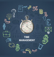 time management round composition vector image vector image