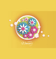 trendy 8 march origami happy women s day floral vector image vector image