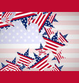 usa flag in star shape vector image vector image
