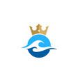 wave king logo icon design vector image vector image