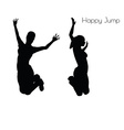 woman in Happy Jump pose vector image