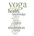 YOGA Word collage on white background vector image vector image