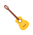 acoustic guitar in cartoon style simple guitar vector image