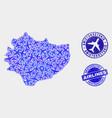aircraft mosaic swietokrzyskie voivodeship vector image vector image