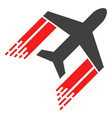 aviation with fast speed effect vector image vector image