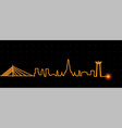 bangkok light streak skyline vector image