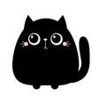 black cat kitten kitty kitten icon cute kawaii vector image vector image