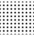 black stars pattern on white background vector image