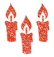 candles icon grunge watermark vector image vector image