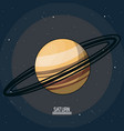 colorful poster of the planet saturn in the space vector image vector image