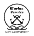Company Logo Design for Marine Service vector image vector image