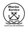 Company Logo Design for Marine Service vector image