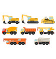 construction vehicles set vector image vector image