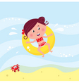 cute girl swimming vector image