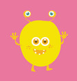 cute monster cartoon character 012 vector image vector image