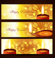 diwali headers set vector image vector image