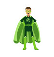 ecological superhero man standing with hands on vector image vector image