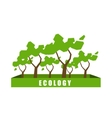 Ecology concept with polygon tree background vector image