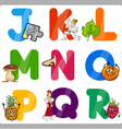 Education Cartoon Alphabet Letters for Kids vector image
