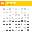 education line web glyph icons vector image vector image