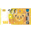 fictional banknote with a cute fluffy rat vector image vector image