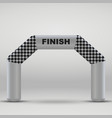 finish arch vector image