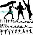 Fitness silhouettes vector | Price: 1 Credit (USD $1)