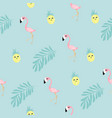 flamingo tropical seamless pattern vector image