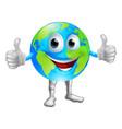 globe mascot character vector image vector image