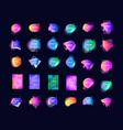 gradient color background colored fluid splash vector image vector image