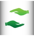 Hand sign Green gradient icon vector image