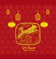 happy chinese new year and year of dog card is vector image vector image