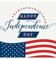 Happy Independence Day July 4th Fourth American vector image vector image