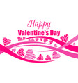 happy valentines day background with hearts vector image