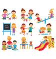 Kindergarten icons set vector image vector image