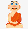 man buddhist in national cloth vector image vector image