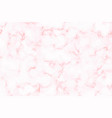 marble pattern white and pink marble vector image