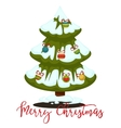 Merry Christmas greeting card Winter holiday vector image vector image
